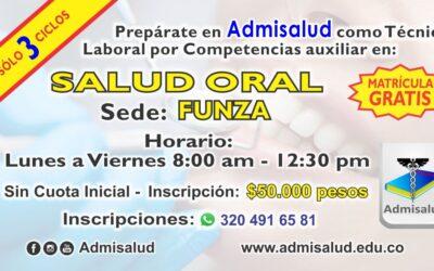 Inscripciones Auxiliar en Salud Oral Funza 2021-1