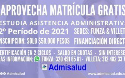 Inscripciones Auxiliar en Asistencia Administrativa 2021-2