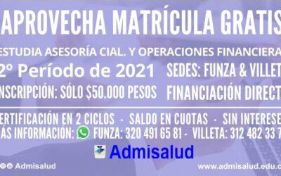 Inscripciones Auxiliar en Asesoría Comercial y Operaciones de entidades Financieras 2021-2